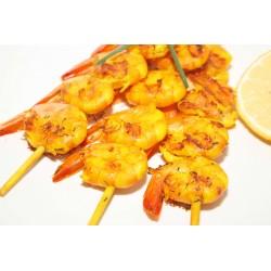 12 Brochettes de Crevettes Sauce Indienne - Plats cuisinés - MonBeauPoisson.fr