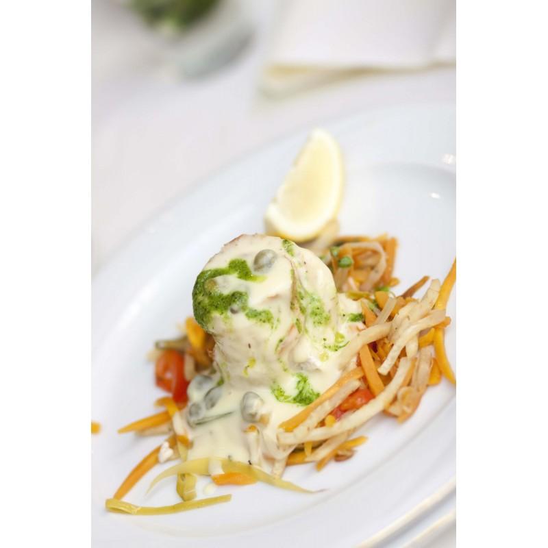 Filets de bar en medaillon au beurre blanc - Plats cuisinés - MonBeauPoisson.fr