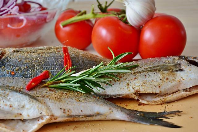 poisson au four